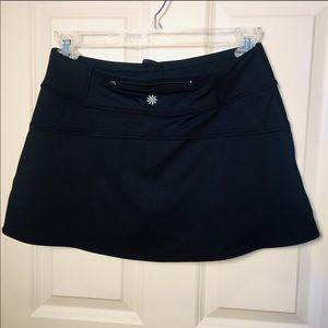 [ATHLETA] Skort Waist Zipper Pocket Black S EUC